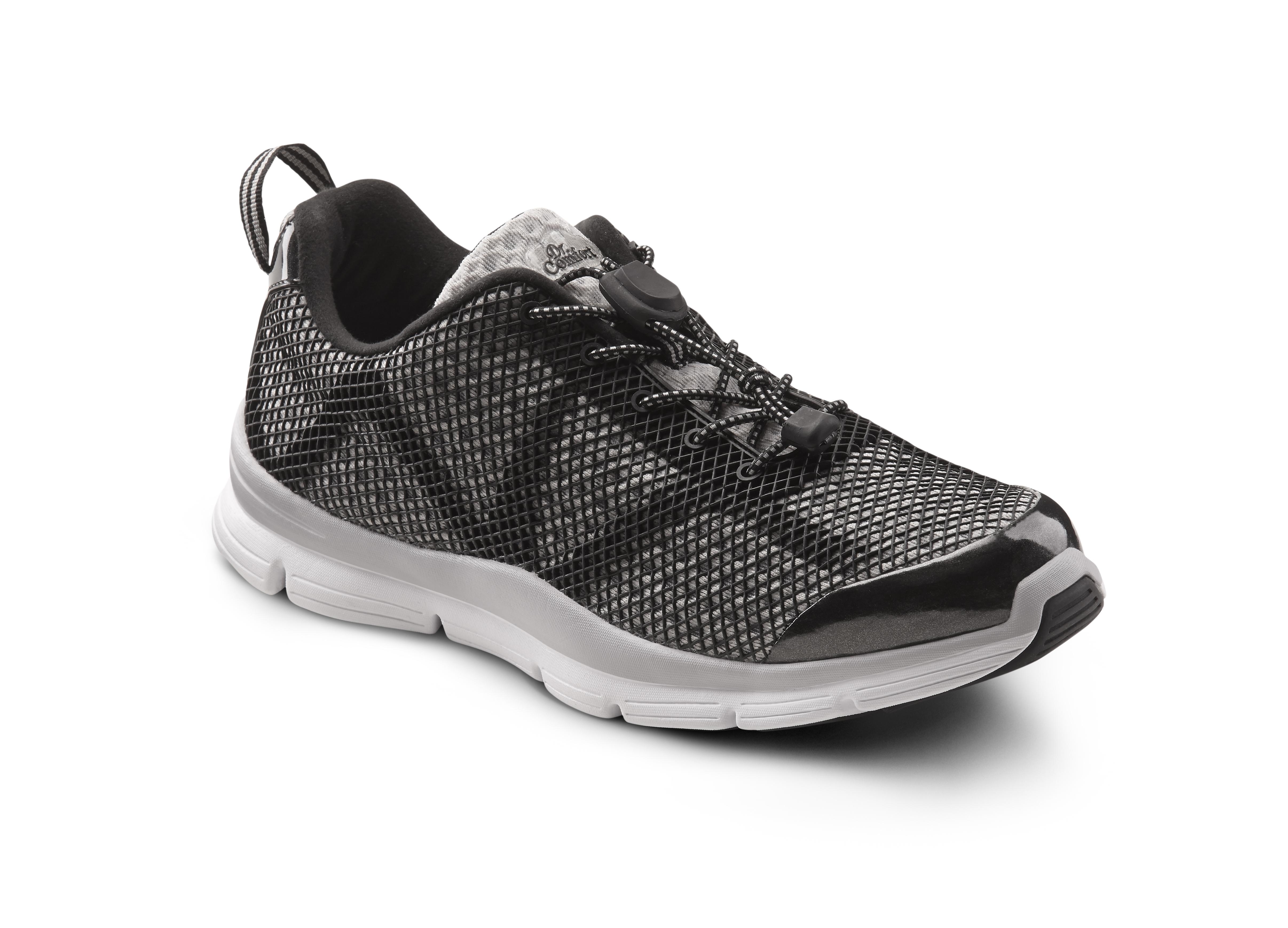 Wide fit sandals shoes uk - Dr Comfort Jason Shoes Grey Black