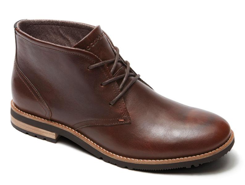 Rockport Ledge Hill Chukka Boots - Dark Brown