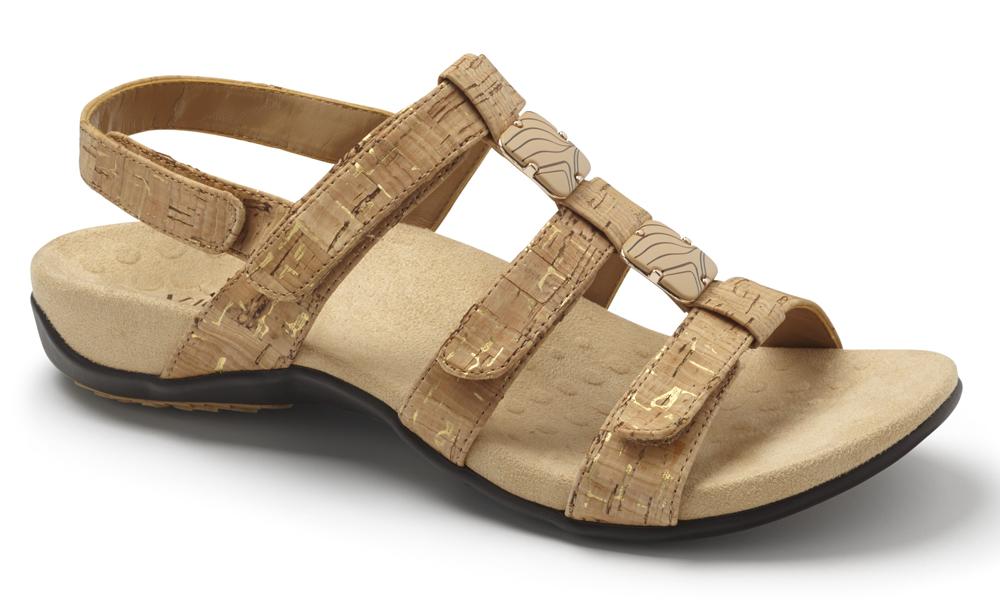 Vionic Rest Amber Sandals - Gold Cork